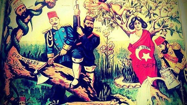 Sultan Abdülhamid'e meşrutiyeti zorla kabul ettirmek ve Makedonya'ya bağımsızlık verilmesini önlemek üzere bir isyan başlatan Resneli Niyazi Bey...