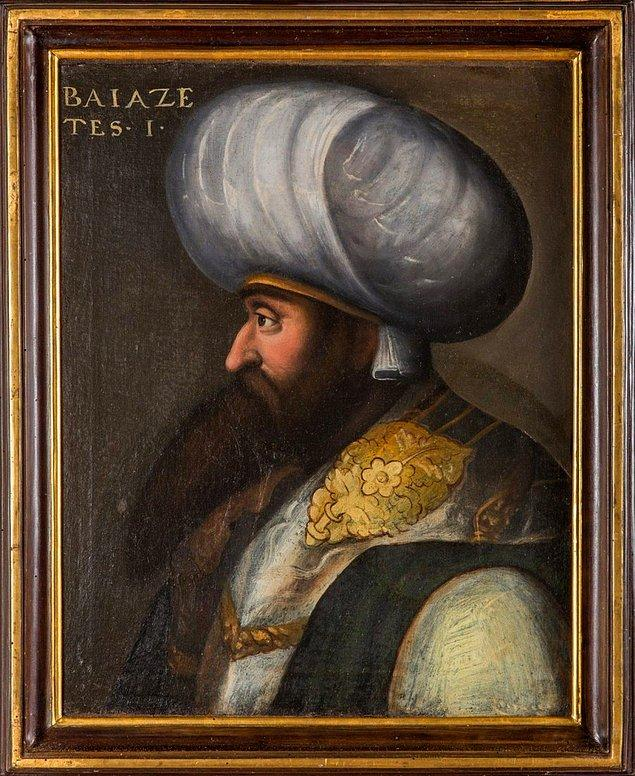 6. 1525–1605 yılları arasında Floransa'da yaşamış olan ressam Cristofano dell'Altissimo tarafından yapılmış bir I. Bayezid portresi.