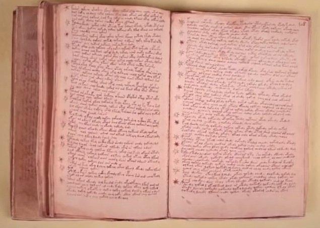 Kitabımız 240 sayfadan oluşuyor. İçerisinde çizimler, burç sembolleri, yıldızlar ve bitkilerle alakalı birçok çizim ve yazı var ancak bu yazının dili hala çözülemedi.