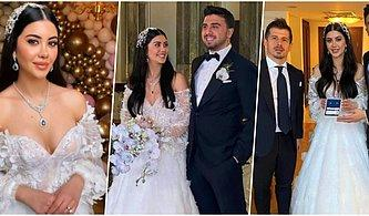 Milli Futbolcu Ozan Tufan ile Nişanlısı Rojin Haspolat Çırağan Sarayı'nda Dünyaevine Girdi