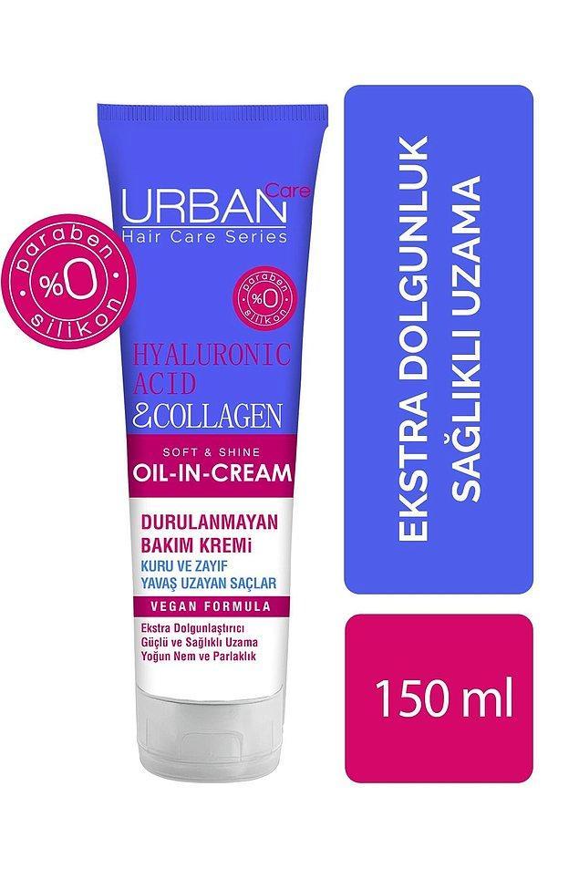 5. Yine Urban Care'den çok satan bir ürün de hyalüronik asit ve kolajen içerikli durulanmayan bakım kremi.