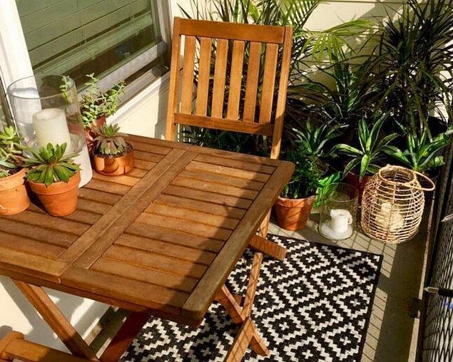 6. Masa takımı her balkonun ihtiyacı.