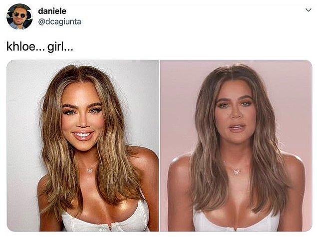 Khloe daha önce de Instagram'daki fotoğrafları ve gerçek hayat olarak eleştirilmişti.