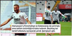 Kartal Bu Kez Hata Yapmadı! Alanyaspor'u 3 Golle Geçen Beşiktaş Zirvedeki Yerini Sağlamlaştırdı