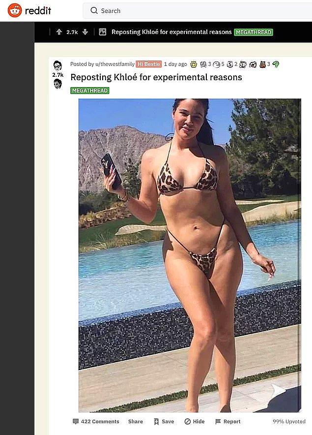 Daha geçen gün bu güzellik algısını yaratanların başında gelen Khloe Kardashian'ın 'gerçek kadın' gibi göründüğü bu fotoğrafı nasıl da salladı sosyal medyayı?