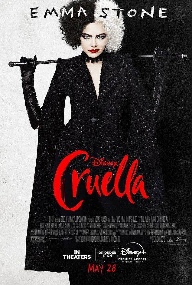 7. Emma Stone'un başrolünde olduğu Cruella'dan yeni bir poster yayınlandı.