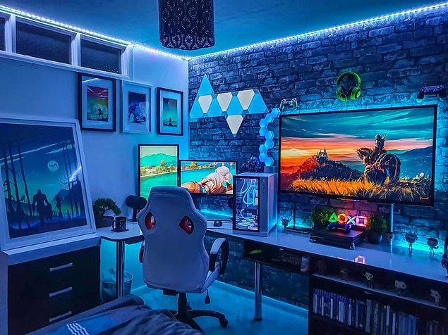 5. Led ışık bir gamer odasının olmazsa olmazıdır.