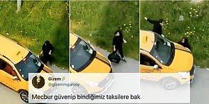 Mersin'de Taksici Abinin Aracını Kız Kardeşinin Üzerine Sürdüğü Görüntüler Kan Dondurdu