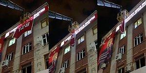 """CHP Binasındaki """"128"""" Afişi Polis Tarafından İndirildi"""