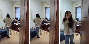 Kendisini ve Arkadaşını Taciz Ettiği İddia Edilen Patronunu Paspasla Döven Kadın