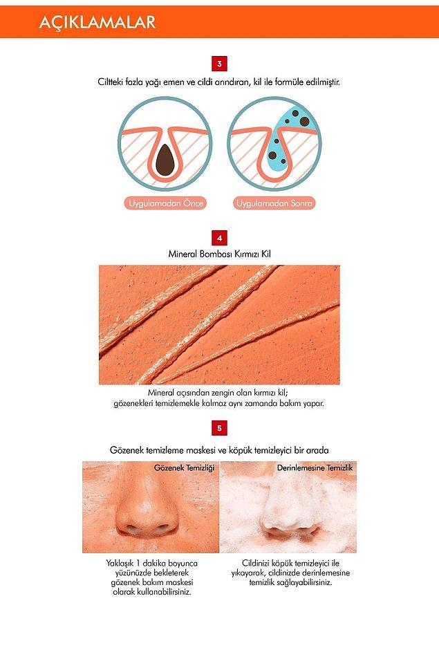 7. Gözeneklerinizi anında temizleyen ve cildinizi arındırıp canlandıran harika bir maske. Aynı zamanda bir cilt temizleyicisi.