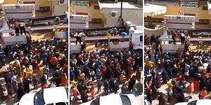 Cumhurbaşkanı Erdoğan'ın Talimatı ile Dağıtılan Patateslerden Almak İsteyen İnsanların 'Kalabalık' Görüntüleri