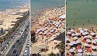 Halkın Büyük Çoğunluğu Aşılanan ve Açık Alanda Maske Zorunluluğu Kalkan İsrail'de Plajlar Doldu Taştı