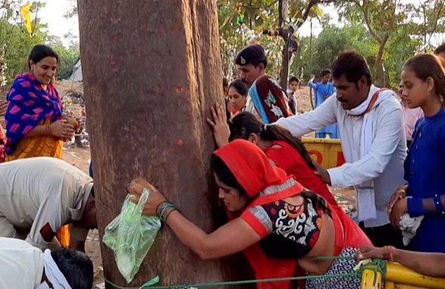 Halk, hastalarını Mahua ağacına getirerek şifa diliyordu.