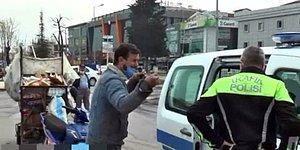 Sokağa Çıkma Kısıtlamasını İhlal Ettiği İçin Para Cezası Yiyen Kağıt Toplayıcısı Baba Gözyaşlarına Boğuldu