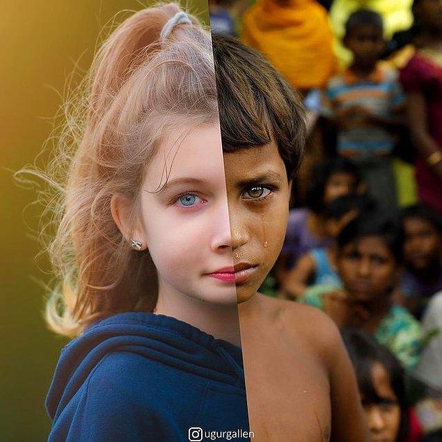 14. Rohingyalı mülteci bir kız çocuğu...