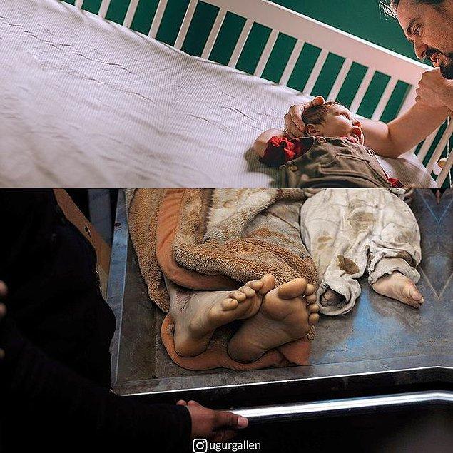 20. Yemen'de hava saldırısında hayatını kaybeden sivil kurbanların ayakları!
