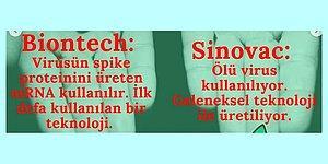 Biontech ve Sinovac Aşılarının Artı ve Eksilerini Gösteren Bu Karşılaştırmalara Göz Atmalısınız