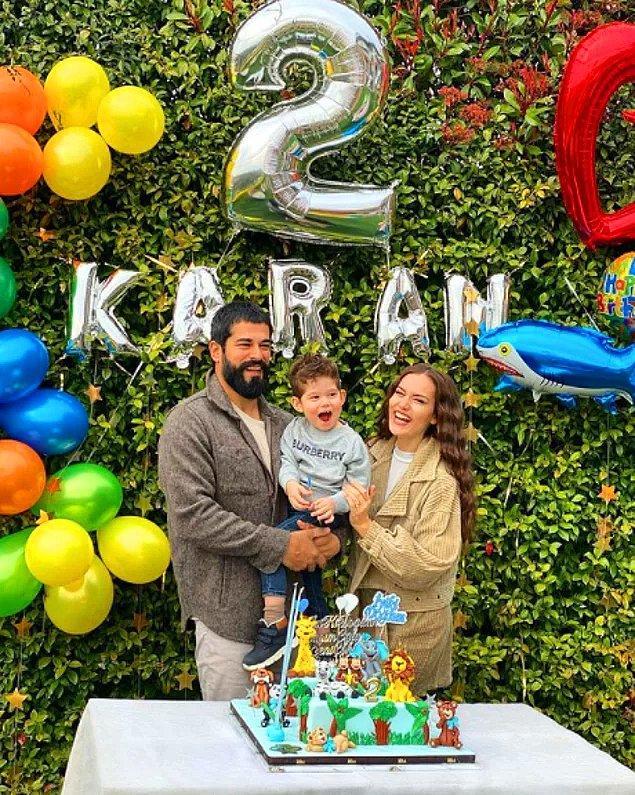 1. Fahriye Evcen ve Burak Özçivit çifti, oğulları Karan'ın ikinci yaşını kutladı!