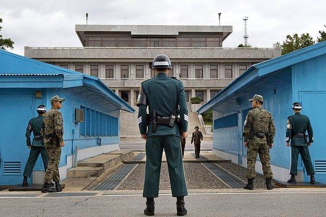 17. Kuzey ve Güney Kore arasındaki askersiz bölge