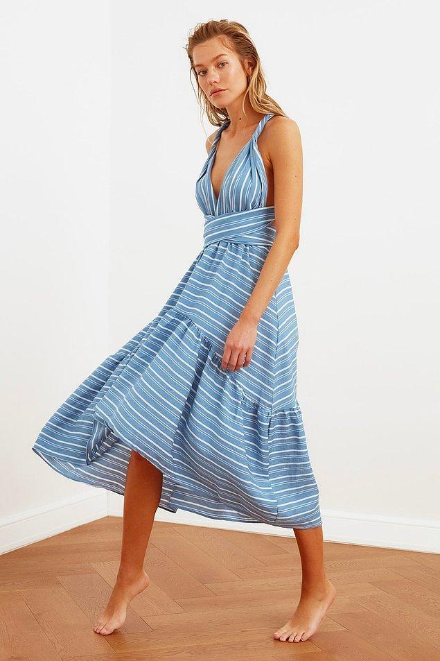 1. Yazın plajda şu elbisenin içinde kendinizi hayal edin.