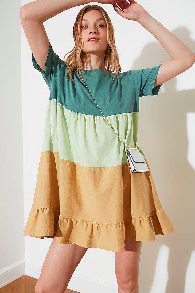21. Elbise giymeyi tercih edenler de bu tarz bol dökümlü elbiselerle çok rahat edecektir.