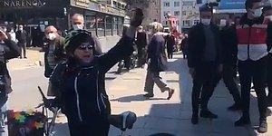 1 Mayıs Platformu Açıklamasına Polis Müdahale Edince Vatandaş İsyan Etti: 'Polis Devleti Yaptınız Memleketi'