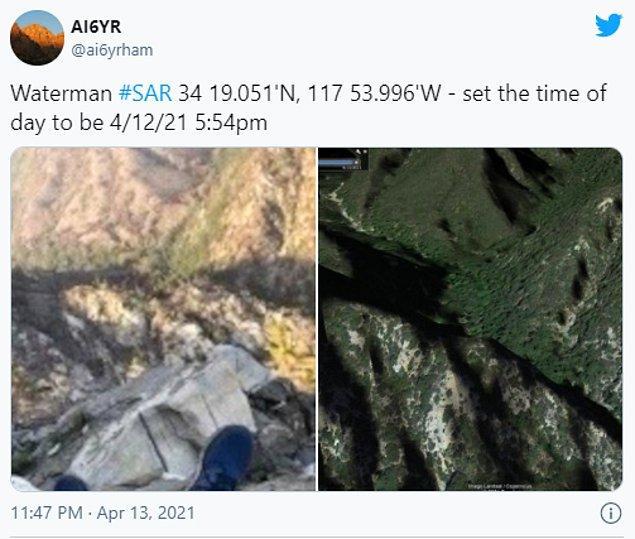 Benjamin Kuo isimli bir Twitter kullanıcısı, uydu görüntülerini kullanarak kayıp adamın yerini tespit etmeyi başardı.