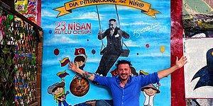 Fatih Koparan, Kolombiya'da 23 Nisan'ı Kutladı: Medellin'de Duvara Atatürk Resmi Çizdiler