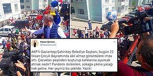 AKP'li Belediye Başkanının 23 Nisan'da Çocukları Peşinden Koşturup Üstlerine Oyuncak Atması Tepki Çekti