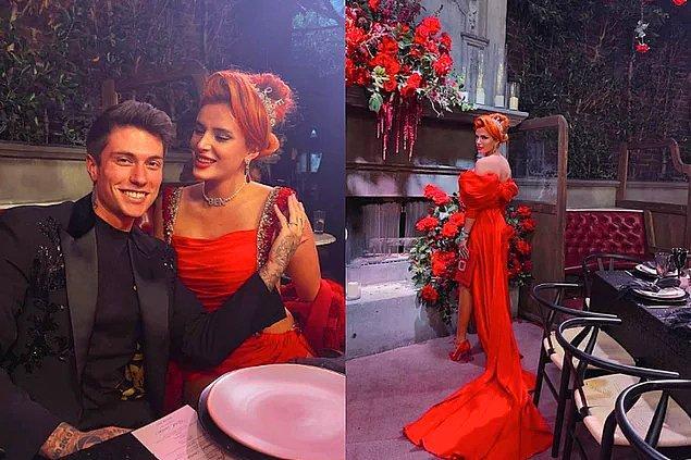 1. Ünlü şarkıcı Bella Thorne, Benjamin Mascolo ile yaptıkları nişan töreninde tercih ettiği kıyafetle olay yarattı.
