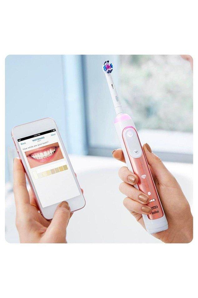 14. Oral-B Genius 10000n Rose Gold Şarj Edilebilir Diş Fırçası