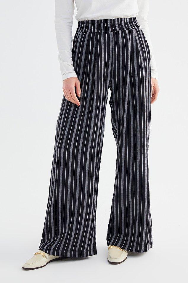 8. Biraz da pantolon bakalım... Çizgili bol pantolon ilk seçtiğim model oldu....