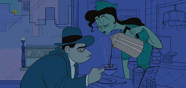 13. Bir lokantada beyaz önlüklü bir kadın garsonun arada bir, ''bayım kahvenizi tazelememi ister misiniz?'' diye sorması.