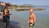 Muğlada Denize Girenleri Görünce O da Girdi, Ceza Yedi: 'Meğer Onlar Turistmiş'