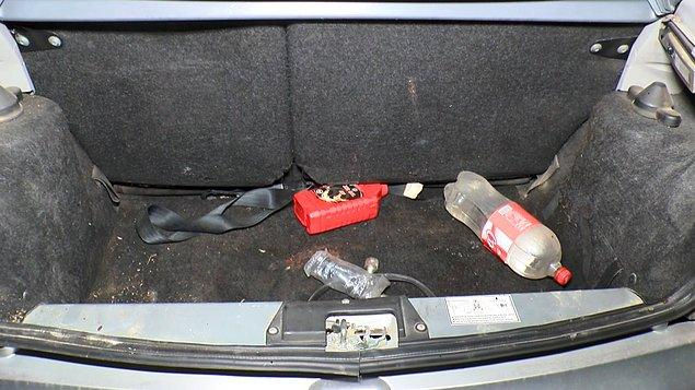 Ekipler, otomobilin de Sönmez'e ait olduğunu ve plakalarının söküldüğünü tespit etti.