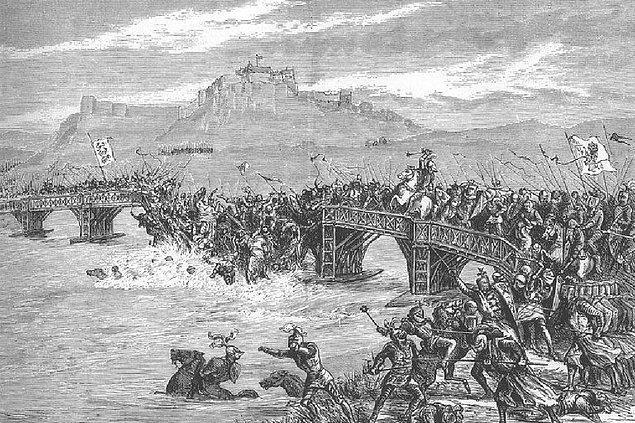 İngilizlerin, Wallace'ın yaptıklarının gördükten sonra başlattığı Stirling Köprüsü Savaşı