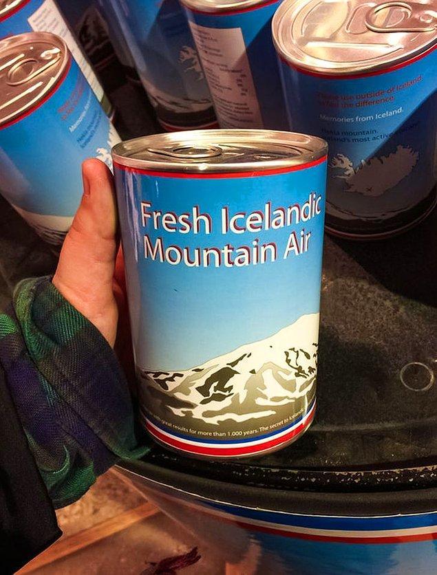 10. Hediyelik eşya dükkanlarında kutularda satılan İzlanda havası bulabilirsiniz. 😂