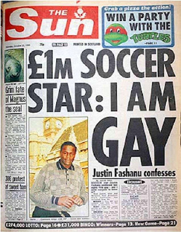 22 Ekim 1990'da Sun gazetesine konuşan forvet, yönelimini tüm dünyaya haykırıyordu.