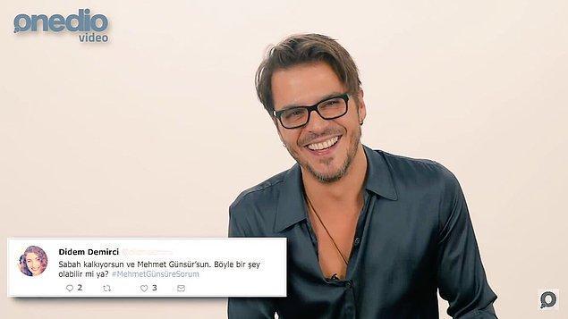 Hepimiz Mehmet Günsür'ü muhteşem oyunculuğu ve karizmatik tarzıyla tanıyor ve bir o kadar da beğeniyoruz.❤️