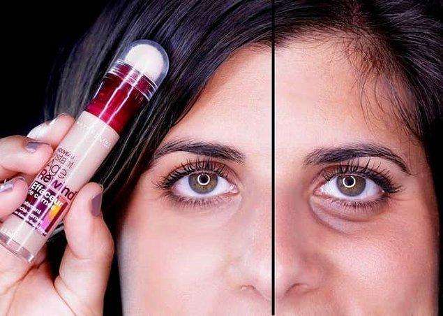 4. Göz çevresinde oluşan halkalar ve renk değişimleri üzerinde etkili hem aydınlatıcı hem kapatıcı