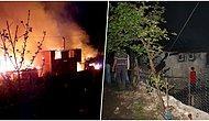 Karantinada Olan Köye Yıldırım Düştü: 6 Ev Yandı, 3 Kişi de Yaralandı