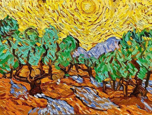 Sanat dallarında çok sık görülen bir durum bu, örneğin aşağıdaki eseri üreten kişi Van Gogh'tan esinlendiğini bilmiyor olabilir.