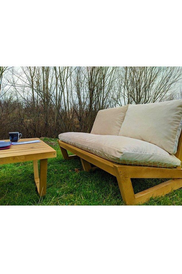 8. Şık tasarımlı bir bahçe / balkon koltuğu...