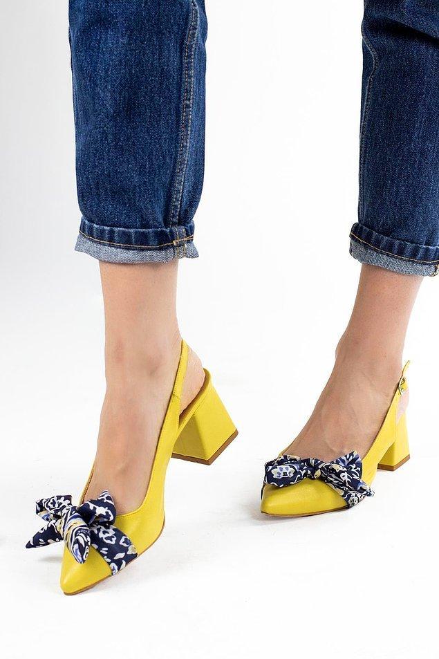 9. Fiyonk detaylı ayakkabılar uzun midi boy elbiselerle çok yakışıyor.