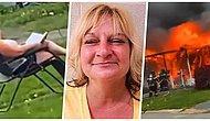 Cinayete Teşebbüs! İçine Birini Hapsettikten Sonra Evini Ateşe Verip Bahçede Oturarak İzleyen Kadın