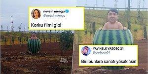 Yine Dünya Markasıyız: Diyarbakır'da Bulunan Karpuz İçindeki Bir Garip Çocuk Heykeli ve Gelen Tepkiler