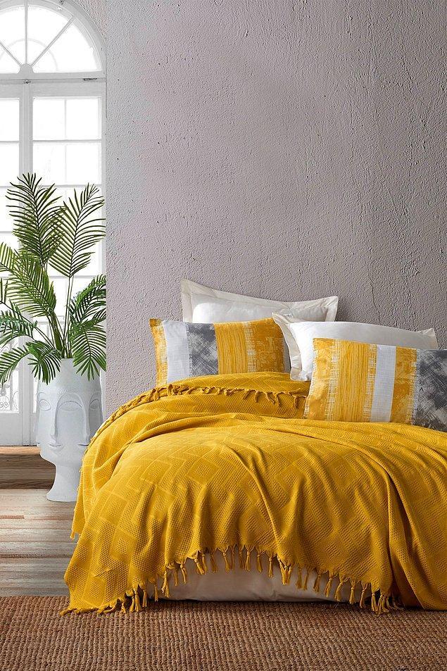 5. Yataklara yaz renklerini taşıyacak...