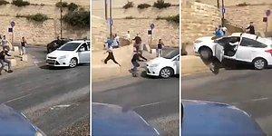 Kudüs'te Olaylar Durmuyor: Filistinliler Bir Yahudi'nin Aracına Saldırdı, O Yahudi İnsanları Ezmeye Çalıştı