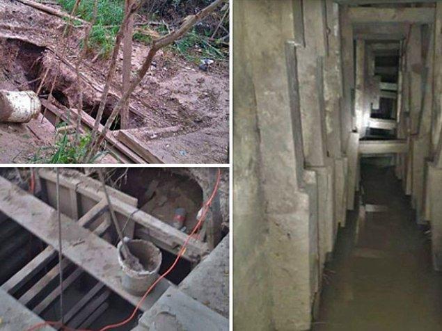 Tünelin, Meksika Ulusal Muhafızları'nın bölgedeki üssünün tam karşısında 15 metre mesafede olduğu ortaya çıktı.
